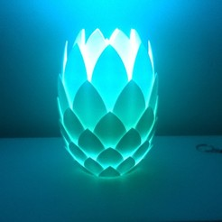 Imprimir en 3D Lámpara de piña, VforVosh