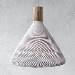 originalTrilone.jpg Download STL file Triangular honeycomb mesh lamp • Model to 3D print, 3DPrintLover