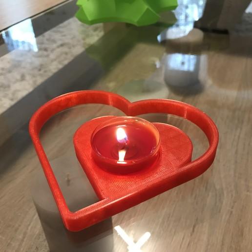 Download free 3D printing designs Valentine Heart Tealight Candle Holder, Jdjxj_Hsxjxh