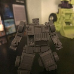 IMG_1936.jpeg Download STL file Corrector: fully articulated and transforming figure • 3D printer design, prime_prints