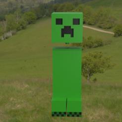 Creeperdesmontable4.png Télécharger fichier STL Minecraft Creeper amovible • Objet imprimable en 3D, Rauul19