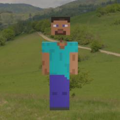Stevedesmontable4.png Télécharger fichier STL Minecraft Steve amovible • Objet à imprimer en 3D, Rauul19
