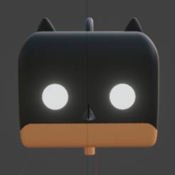 batfren.PNG Télécharger fichier STL boucle d'oreille batman funko / pendiente batman estilo funko • Plan pour impression 3D, Rauul19