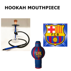Miniaturaboquillabarsa.png Download STL file FCB hookah mouthpiece/Boquilla de cachimba • 3D printer model, Rauul19