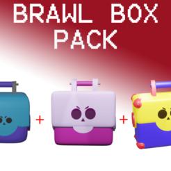 Download 3D printer files Brawl Stars Box Pack 3 in 1, Rauul19