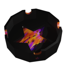 ceniEstrella.png Download STL file Ashtray Fire Star • 3D printer object, Rauul19