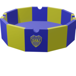 Ceniboca.png Download STL file Ashtray Boca Juniors • 3D print object, Rauul19