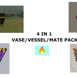 Download 3D printer templates VASE/ VESSEL/MATE PACK, Rauul19