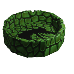 Escamas.png Download STL file Ashtray Dragon Scales • 3D printing model, Rauul19