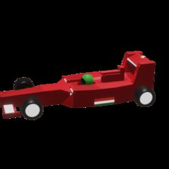 F1.png Download STL file Formula 1 Ferrari low poly • 3D printable design, Rauul19