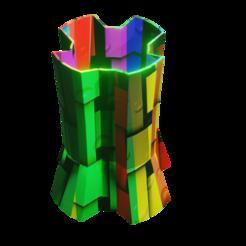 JARRON2.png Download STL file COLORFUL VASE/ JARRON, VESSEL/ VASIJA • 3D print object, Rauul19