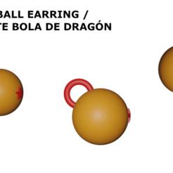 Imprimir en 3D DragonBall Earring | Pendiente DragonBall, Rauul19