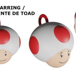 ToadEarring.png Télécharger fichier STL Boucle d'oreille crapaud | Crapaud en attente • Design pour imprimante 3D, Rauul19