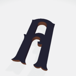 Download free 3D print files Letters (whole alphabet), Hobocop