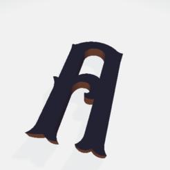 Télécharger plan imprimante 3D gatuit Lettres (tout l'alphabet), Hobocop