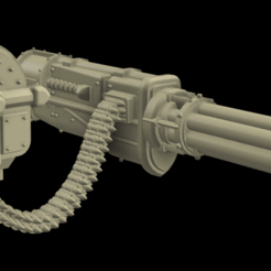 2020-01-24_9.png Download free STL file Big gatling for scavenger bird to punish foes • 3D printer model, DarkJeyzz