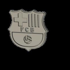 Télécharger fichier imprimante 3D bouclier magnétique club de football barcelone, JORGE1981