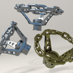 Chains1.png Download free STL file Ender 3 Printer Knobs (Lowrider Edition) • 3D printer template, Spazticus