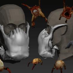 Descargar STL gratis COVID-19 Capuchón de la máscara, edición Headcrab, Spazticus