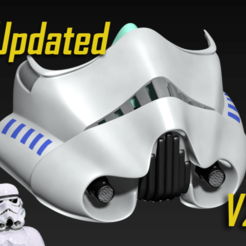 StormtrooperV2.png Download free STL file COVID-19 Mask Cap, Stormtrooper Edition • 3D printer object, Spazticus
