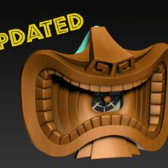 Tiki2.png Download free STL file COVID-19 Mask Cap, Tiki Edition • 3D print design, Spazticus