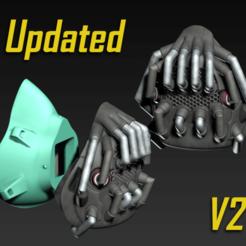 Descargar diseños 3D gratis Capuchón de la máscara COVID-19, edición Bane, Spazticus