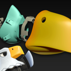 Apollo2.png Download free STL file COVID-19 Mask Cap, Animal Crossing Apollo Edition • 3D printing object, Spazticus