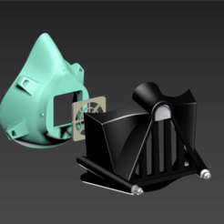 M95.png Download free STL file COVID-19 Mask Cap, Darth Vader Edition • 3D printable template, Spazticus