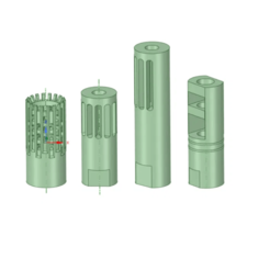 122530964_349606109485115_4626512766720445848_n.png Download STL file fire silencers airsoft 14mm 4 pices • 3D printable template, marceliopti1