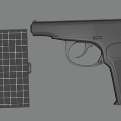 Imprimir en 3D gratis La pistola Makarov, Doberman