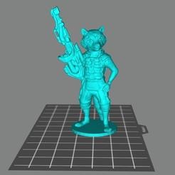 "Impresiones 3D gratis Mapache ""Cohete"", Doberman"