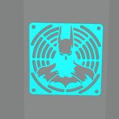 Impresiones 3D gratis Parrilla de ventilador con Batman, Doberman