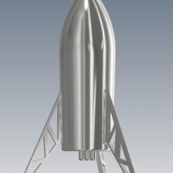 Descargar modelo 3D Cohete, nave estelar SpaceX, FranciscoB