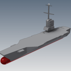 Download STL file Aircraft carrier, military, FranciscoB