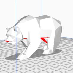 Download 3D model Low poly polar bear, FranciscoB