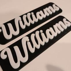20200604_150021.jpg Télécharger fichier STL Bâton Williams 3D sur le logo • Objet pour imprimante 3D, dakjones82