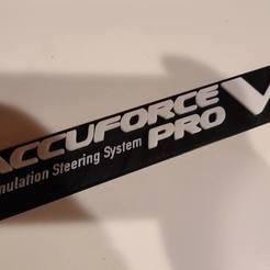 20200605_093907.jpg Download STL file Accuforce Pro V2 3D stick on Logo • 3D printable model, dakjones82