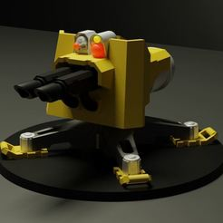 Render.JPG Download free STL file Mechanical Servo Turret VERSION 2 • 3D printable object, Hivetyrant36