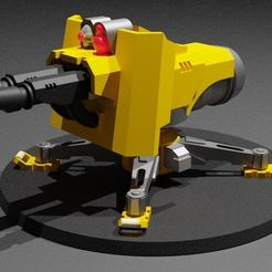 Render.JPG Download free STL file Mechanical Servo Turret • Template to 3D print, Hivetyrant36