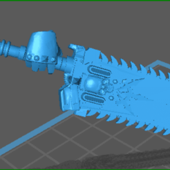 Download free STL files chaotic chainsword, plaguebearer