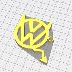 5.JPG Download free STL file Volkswagen key ring • 3D printing model, apcrdesign