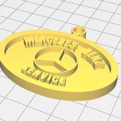6.JPG Download STL file Mercedes Benz Service key ring • 3D printing object, apcrdesign
