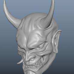 1.png Download STL file Oni, Hanya Mask • 3D print object, manosh0303