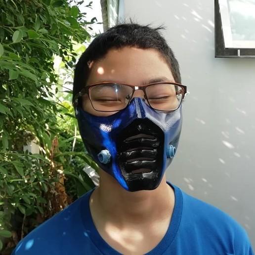 Download Obj File Sub Zero Mask Mortal Kombat 3d Print Model Cults