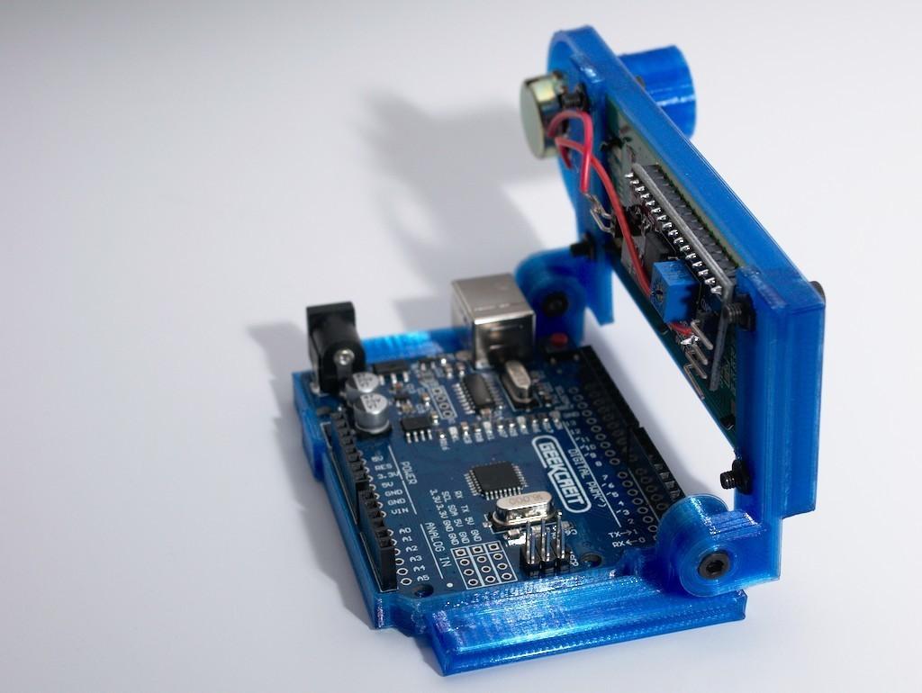 DSC_0035.jpg Download free STL file Arduino Uno Slider w/ 2x16 LCD • Design to 3D print, NHiggs