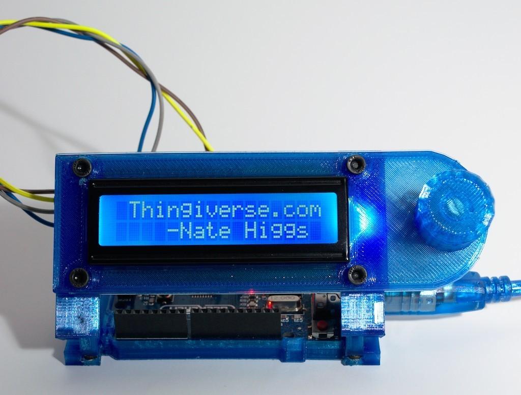 DSC_0036.jpg Download free STL file Arduino Uno Slider w/ 2x16 LCD • Design to 3D print, NHiggs