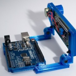 Download free 3D printing designs Arduino Uno Slider w/ 2x16 LCD, NHiggs