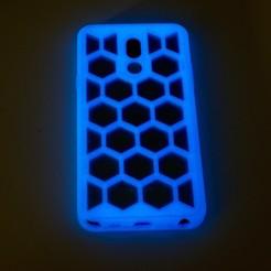 4.jpg Download free STL file LG Stylo 5 Case with Hexagon Pattern • 3D printable model, NHiggs