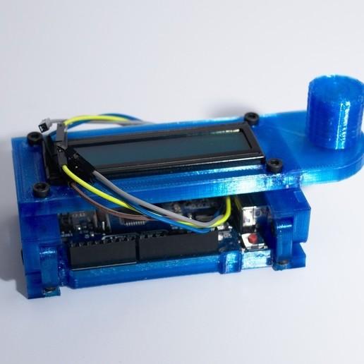 DSC_0033a.jpg Download free STL file Arduino Uno Slider w/ 2x16 LCD • Design to 3D print, NHiggs