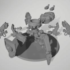 2020-09-30 20_06_56-V__Cloud Drives_Box Sync_3D stuff_printable stuff_Warhammer 40k_Adeptus Mechanic.png Download free STL file Katarachnophron (Kataphron with Legs) • 3D printable model, DimensionV